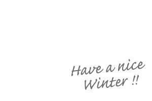 よい冬を!